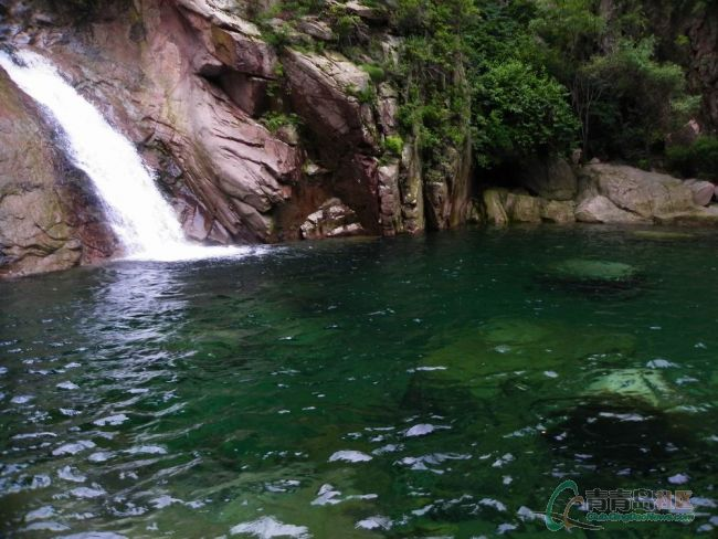 瀑布(海底螃蟹)|网友随拍 - 青岛崂山风景区(天上人间