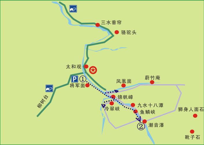 青岛崂山风景区地图o
