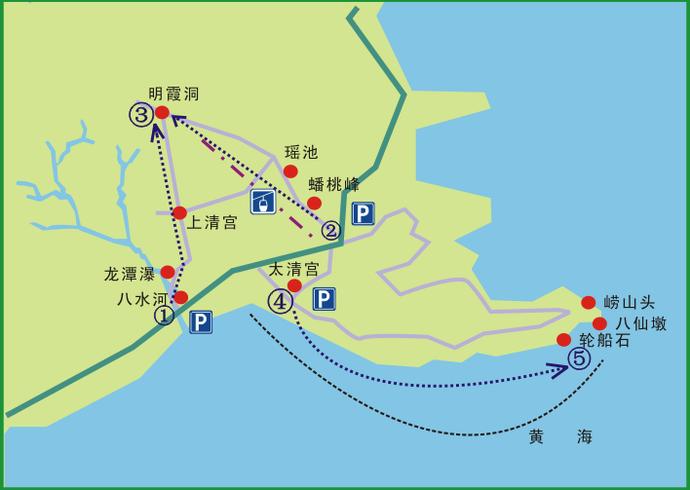 崂山风景区地图