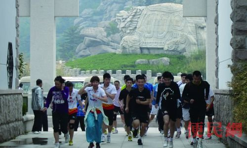 崂山风景区管理局全力支持国家羽毛球队训练.